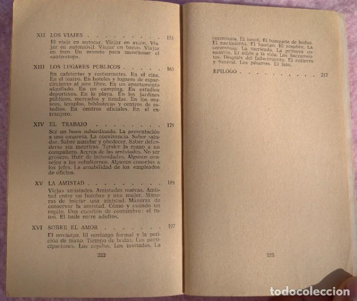 Libros de segunda mano: Normas Sociales – Sara Masó (Bruguera, 1970) /// EDUCACIÓN BUENAS MANERAS HOGAR AMA DE CASA DECORO - Foto 5 - 208813435