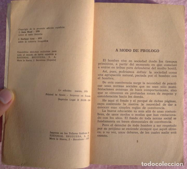 Libros de segunda mano: Normas Sociales – Sara Masó (Bruguera, 1970) /// EDUCACIÓN BUENAS MANERAS HOGAR AMA DE CASA DECORO - Foto 6 - 208813435