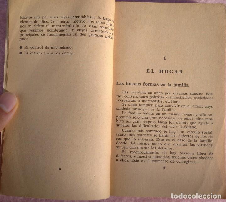 Libros de segunda mano: Normas Sociales – Sara Masó (Bruguera, 1970) /// EDUCACIÓN BUENAS MANERAS HOGAR AMA DE CASA DECORO - Foto 8 - 208813435