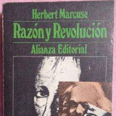 Libros de segunda mano: RAZÓN Y REVOLUCIÓN – HERBERT MARCUSE (ALIANZA, 1970) // HEGEL KARL MARX MARXISMO COMUNISMO COMUNISTA. Lote 208815435