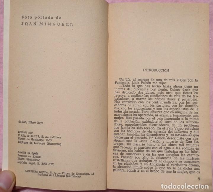 Libros de segunda mano: Trabajos Duros de la Mujer – Eliseo Bayo (Plaza & Janés, 1976) // FEMINISMO FEMINISTA IGUALDAD HOGAR - Foto 5 - 208848002