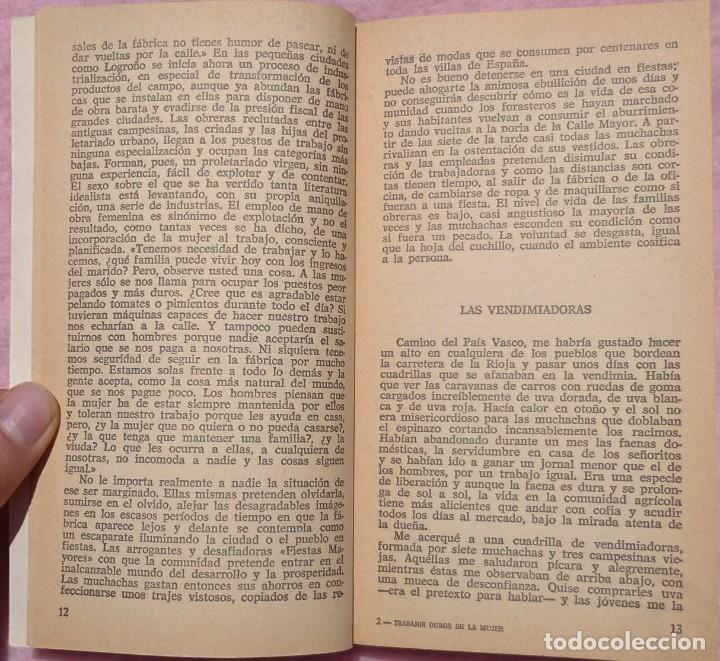Libros de segunda mano: Trabajos Duros de la Mujer – Eliseo Bayo (Plaza & Janés, 1976) // FEMINISMO FEMINISTA IGUALDAD HOGAR - Foto 8 - 208848002