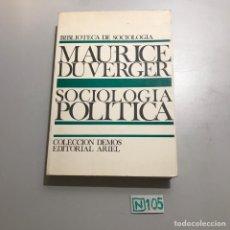 Libros de segunda mano: SOCIOLOGÍA POLÍTICA. Lote 209395463