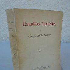 Libros de segunda mano: ESTUDIOS SOCIALES. GUMERSINDO DE AZCARATE. 1933.. Lote 210039465