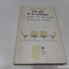 Libros de segunda mano: JESÚS IBAÑEZ MÁS ALLÁ DE LA SOCIOLOGÍA.EL GRUPO DE DISCUSIÓN:TÉCNICA Y CRÍTICA Q1671T. Lote 210553592