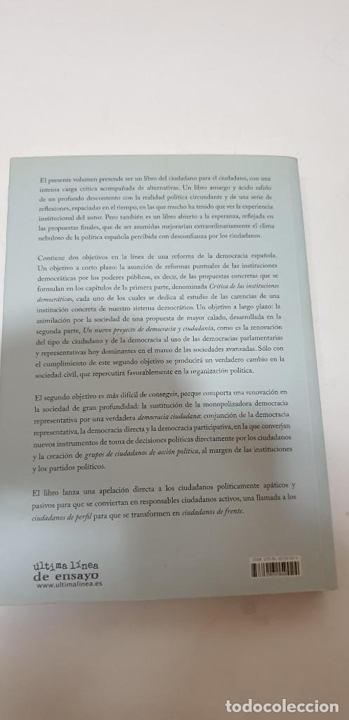 Libros de segunda mano: DEMOCRACIA VERGONZANTE Autor: Ramon Soriano - Foto 2 - 210724054