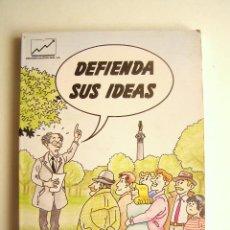 Libros de segunda mano: DEFIENDA SUS IDEAS - PIERRE LEBEL - EDICIONES GESTIÓN 2000 - 1992. Lote 210729047
