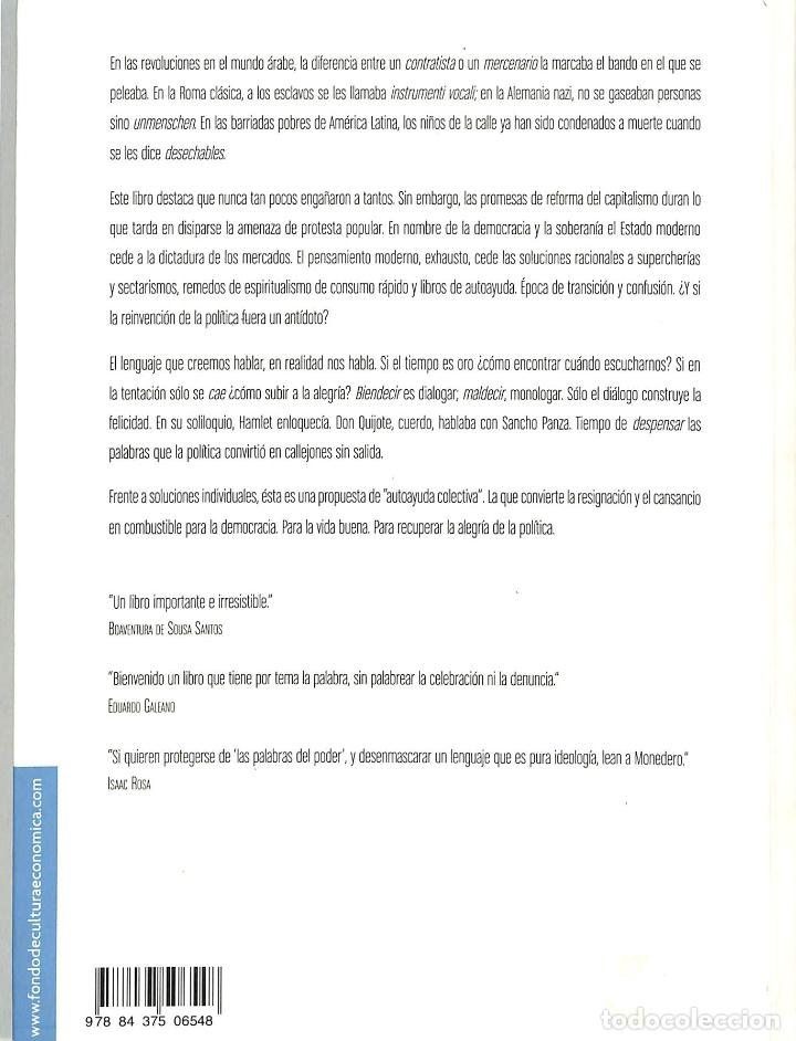 Libros de segunda mano: EL GOBIERNO DE LAS PALABRAS : POLÍTICA PARA TIEMPOS DE CONFUSIÓN [NUEVA EDICIÓN - Foto 2 - 210745717