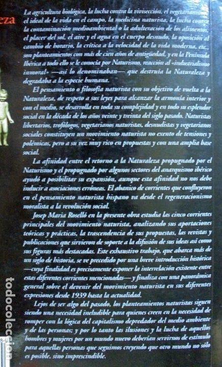 Libros de segunda mano: LA VUELTA A LA NATURALEZA. EL PENSAMIENTO NATURISTA HISPANO (1890-2000): NATURISMO LIBERTARIO.. - Foto 2 - 210951147
