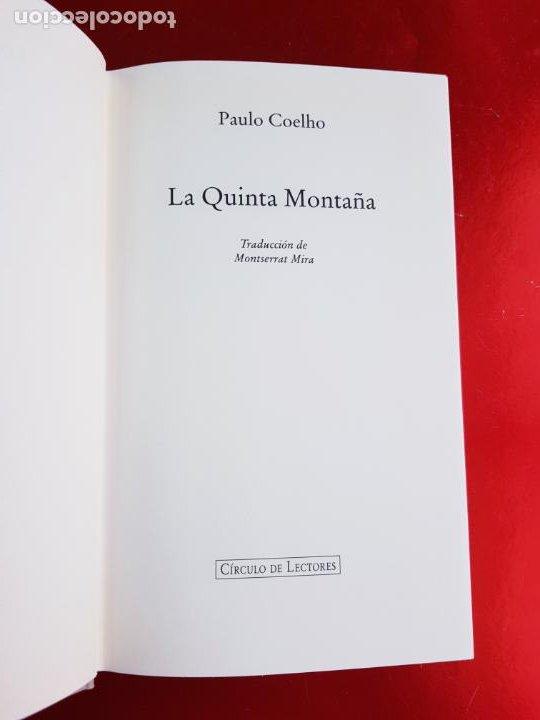 Libros de segunda mano: LIBRO-PAULO COELHO-LA QUINTA MONTAÑA-CÍRCULO DE LECTORES-1998-BARCELONA-PERFECTO ESTADO - Foto 7 - 211826933