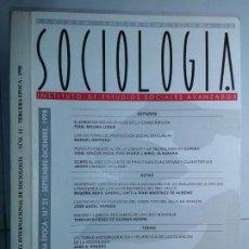 Libros de segunda mano: REVISTA INTERNACIONAL DE SOCIOLOGÍA Nº 21 SEPTIEMBRE / DICIEMBRE 1998 IESA EDITA CSIC. Lote 214290872