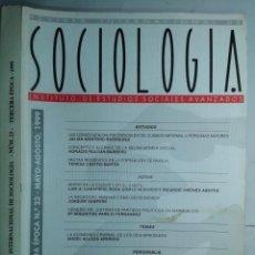 Libros de segunda mano: REVISTA INTERNACIONAL DE SOCIOLOGÍA Nº 23 MAYO / AGOSTO 1999 IESA EDITA CSIC. Lote 214291041