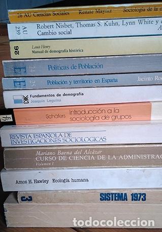 Libros de segunda mano: Miscelánea 12 libros de sociología: Leguina, del Campo, Schäfers, Hawley, Mayntz, R. Osuna… - Foto 3 - 214557903