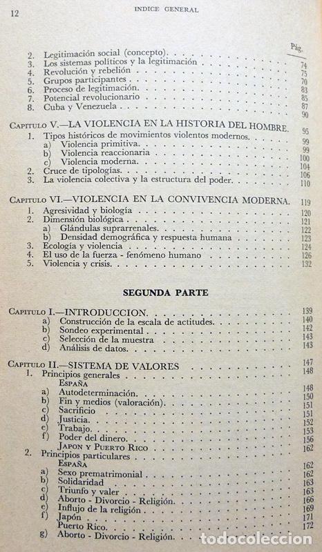 Libros de segunda mano: SOCIOLOGÍA Y VIOLENCIA - EDUARDO BASELGA, SOLEDAD URQUIJO - MENSAJERO - 1974-CASI NUEVO - VER INDICE - Foto 5 - 214826913