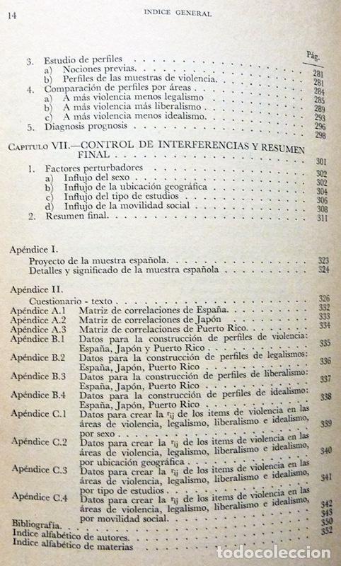 Libros de segunda mano: SOCIOLOGÍA Y VIOLENCIA - EDUARDO BASELGA, SOLEDAD URQUIJO - MENSAJERO - 1974-CASI NUEVO - VER INDICE - Foto 7 - 214826913