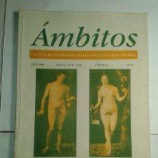 Libros de segunda mano: ÁMBITOS GÉNERO: EVOLUCIÓN CONTEXTO Y SOCIEDAD 2ª EPOCA Nº 11 2004 VARIOS EDITA A.E.C.S.H.. Lote 215282211