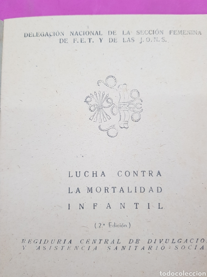 Libros de segunda mano: Cartilla de la madre , editado por la sección femenina de Falange - Foto 2 - 215429368
