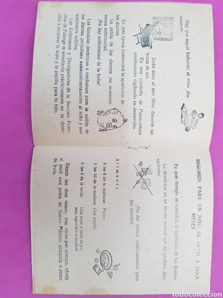 Libros de segunda mano: Cartilla de la madre , editado por la sección femenina de Falange - Foto 3 - 215429368