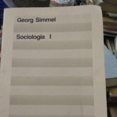 Libros de segunda mano: SOCIOLOGÍA I, GEORG SIMMEL. TOMO I. L.21358. Lote 217511532