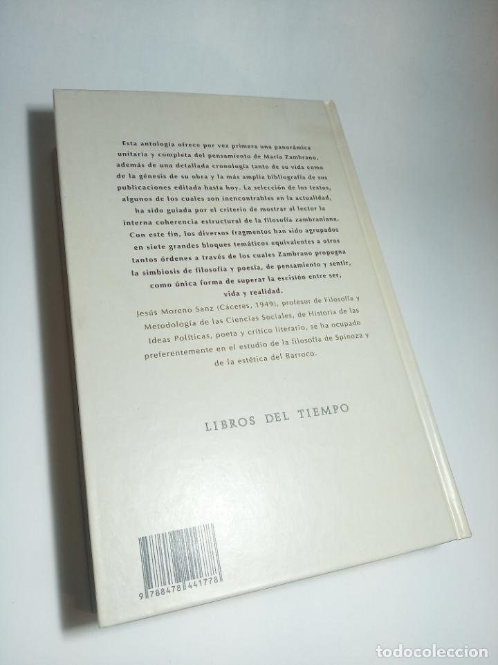 Libros de segunda mano: La razón en la sombra. Antología del pensamiento de María Zambrano. Siruela. Firmado. 1993 - Foto 4 - 218097173