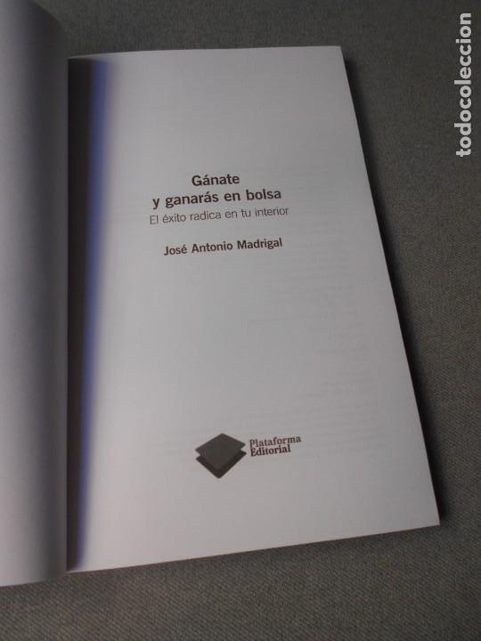 Libros de segunda mano: GANATE Y GANARAS EN BOLSA - Foto 3 - 218237126