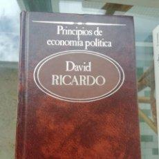 Libros de segunda mano: PRINCIPIOS DE ECONOMÍA POLÍTICA DE DAVID RICARDO TAPAS DURAS. Lote 218672231