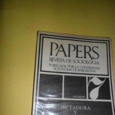 Libros de segunda mano: PAPERS 7, REVISTA DE SOCIOLOGÍA, DICTADURA Y DEPENDENCIA, ED. PENÍNSULA. Lote 220251498