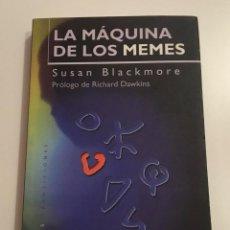 Libros de segunda mano: LA MÁQUINA DE LOS MEMES. SUSAN BLACKMORE. PAIDÓS TRANSICIONES.. Lote 220599031