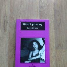 Libros de segunda mano: LA ERA DEL VACÍO. GILLES LIPOVETSKY. Lote 221439092