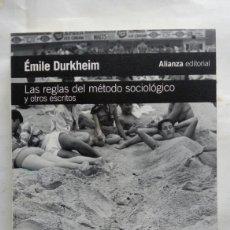 Libros de segunda mano: LAS REGLAS DEL MÉTODO SOCIOLÓGICO Y OTROS ESCRITOS. ÉMILE DURKHEIM.. Lote 221827316