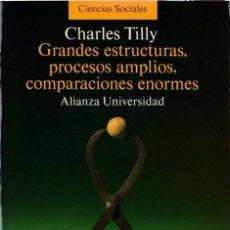Libros de segunda mano: GRANDES ESTRUCTURAS, PROCESOS AMPLIOS, COMPARACIONES ENORMES / CHARLES TILLY. Lote 222141141