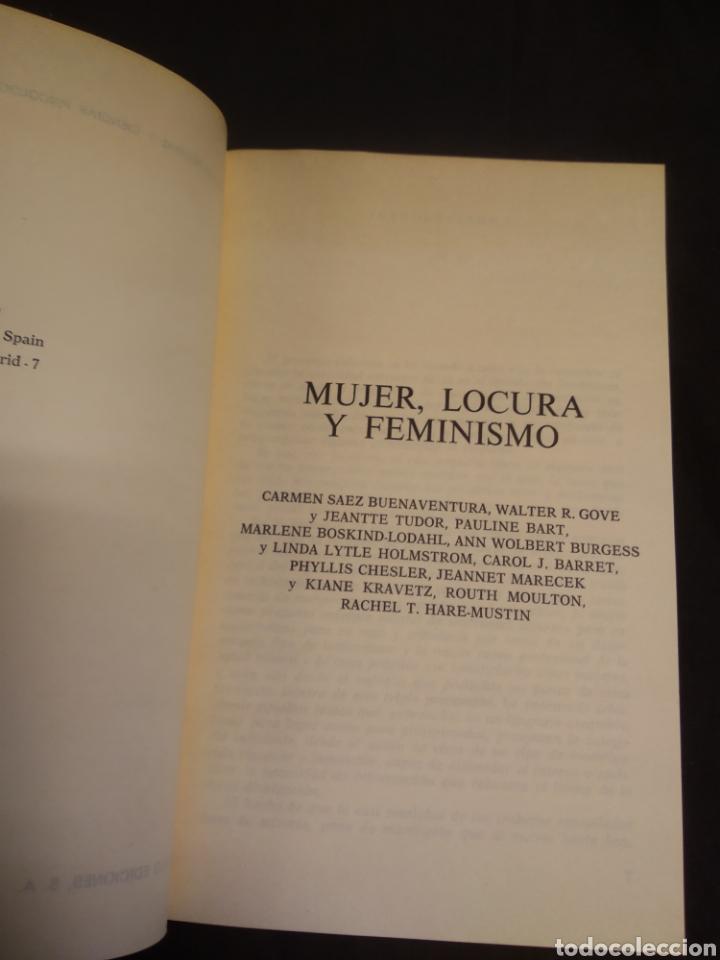 Libros de segunda mano: MUJER LOCURA Y FEMINISMO - Foto 4 - 222465176