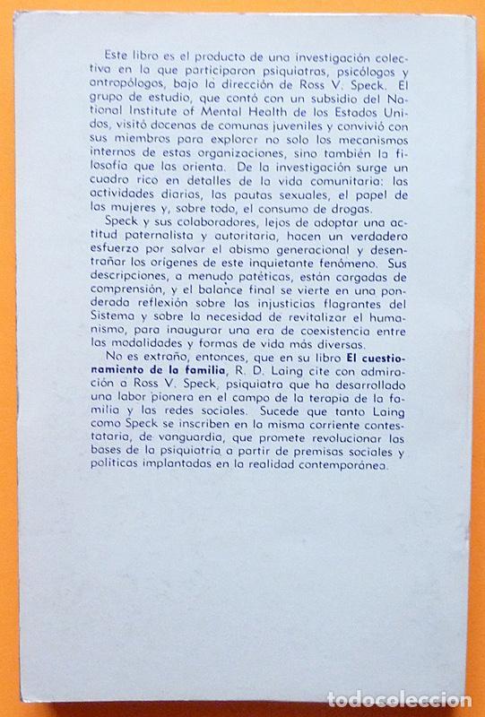 Libros de segunda mano: LAS NUEVAS FAMILIAS: JUVENTUD, COMUNIDADES....- ROSS V. SPECK - GRANICA - 1973 - NUEVO - VER INDICE - Foto 3 - 223515375