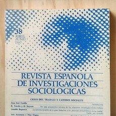 Libros de segunda mano: REVISTA ESPAÑOLA DE INVESTIGACIONES SOCIOLÓGICAS Nº 38, ABRIL 1987. Lote 223778421