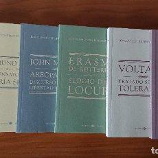 Libros de segunda mano: DISCURSO DEL MÉTODO; SOBRE LA LIBERTAD; TRATADO SOBRE LA TOLERANCIA; TRES ENSAYOS SOBRE LA TEORIA SE. Lote 215237827