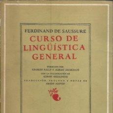 Libros de segunda mano: CURSO DE LINGÜÍSTICA GENERAL. FERDINAND DE SAUSSURE. 1971. Lote 232161985