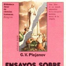 Libros de segunda mano: ENSAYOS SOBRE EL ATEÍSMO Y LA RELIGIÓN. G.V. PLEJANOV. [ED. JÚCAR, 1982]. Lote 278191428