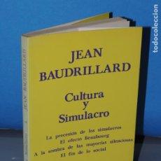 Libros de segunda mano: CULTURA Y SIMULACRO.- JEAN BAUDRILLARD. Lote 265326904