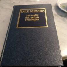 Libros de segunda mano: ÉMILE DURKHEIM. LAS REGLAS DEL MÉTODO SOCIÓLOGICO. ORBIS 1985. Lote 241956710