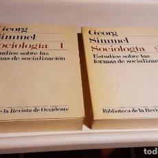 Libros de segunda mano: SOCIOLOGIA VOL I Y II. // ESTUDIOS SOBRE LAS FORMAS DE SOCIALIZACIÓN // 1977 GEORG SIMMEL. Lote 244450875