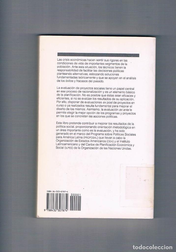 Libros de segunda mano: EVALUACION DE PROYECTOS SOCIALES ERNESTO COHEN ROLANDO FRANCO SIGLO VEINTIUNO DE ESPAÑA 1993 - Foto 2 - 192815051