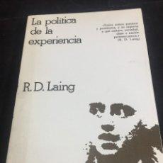Libros de segunda mano: LA POLÍTICA DE LA EXPERIENCIA. RONALD D. LAING. CRÍTICA 1977. Lote 245163105