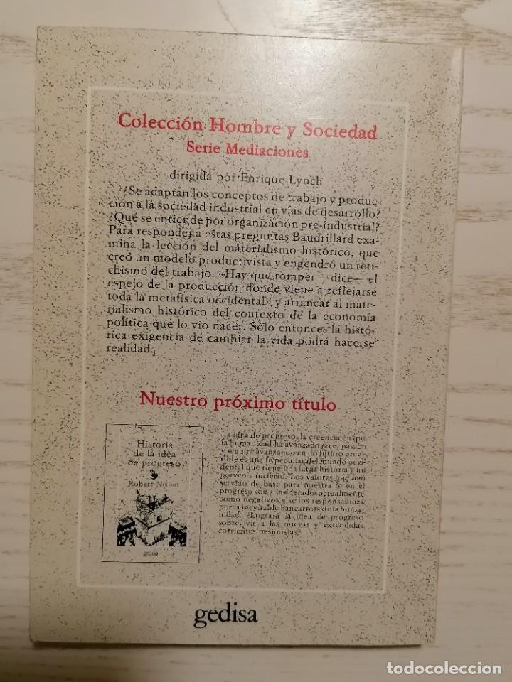 Libros de segunda mano: EL ESPEJO DE LA PRODUCCIÓN - JEAN BAUDRILLARD - GEDISA - 1A EDICIÓN 1980 - Foto 3 - 245997525