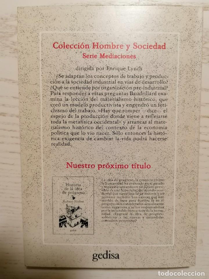 Libros de segunda mano: EL ESPEJO DE LA PRODUCCIÓN - JEAN BAUDRILLARD - GEDISA - 1A EDICIÓN 1980 - Foto 9 - 245997525