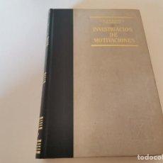 Libros de segunda mano: INVESTIGACIÓN DE MOTIVACIONES H. F. J. KROPFF EDICIONES RIALP 1971. Lote 246106840