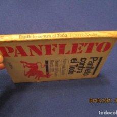 Libros de segunda mano: PANFLETO CONTRA EL TODO FERNANDO SABATER ED. DOPESA 1978 1ª EDICION PREMIO DE ENSAYO MUNDO 1978. Lote 246201675
