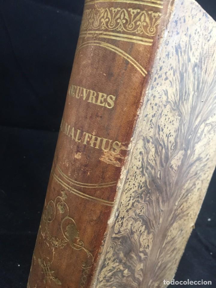 Libros de segunda mano: Essai sur le principe de population. Malthus Thomas Robert. 1852 plena piel. en francés. - Foto 3 - 247105715