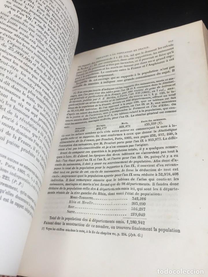 Libros de segunda mano: Essai sur le principe de population. Malthus Thomas Robert. 1852 plena piel. en francés. - Foto 4 - 247105715