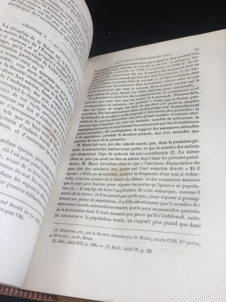 Libros de segunda mano: Essai sur le principe de population. Malthus Thomas Robert. 1852 plena piel. en francés. - Foto 5 - 247105715