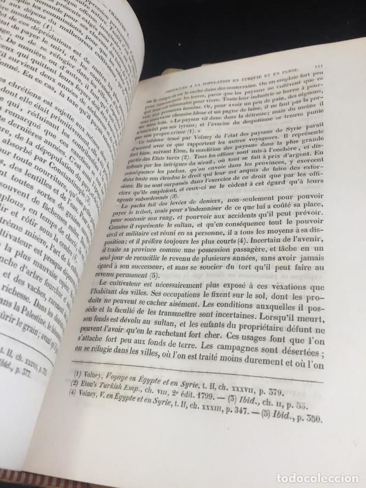 Libros de segunda mano: Essai sur le principe de population. Malthus Thomas Robert. 1852 plena piel. en francés. - Foto 6 - 247105715
